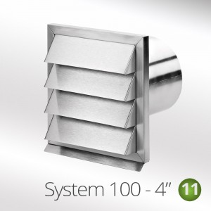 100mm Stainless Steel Outside Grill Vent