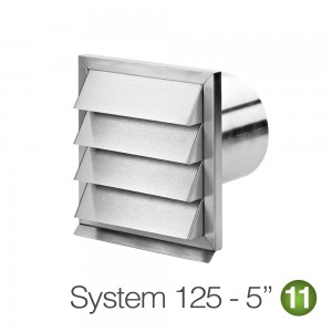 125mm Stainless Steel Outside Grill Vent