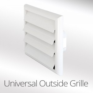 Universal 100mm,125mm or 150mm Louvred Wall Vent