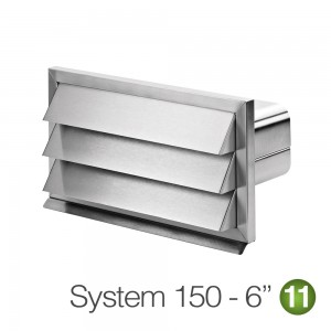 150mm Stainless Steel Flat Outside Grill Vent