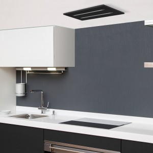 650mm Black Ceiling Hood Extractor For Small Kitchens