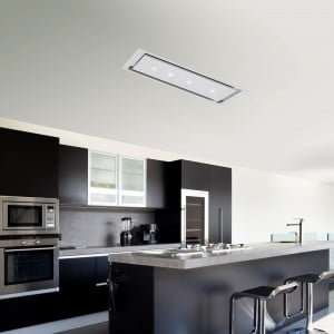 Anzi 120cm Ceiling Hood Pitched Roof - White