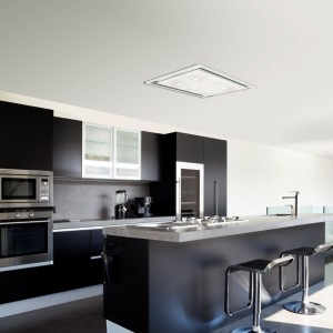Anzi Ceiling Hood Pitched Roof - White