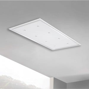 Anzi 120cm x 70cm Ceiling Hood Pitched Roof - White