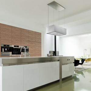 90cm pendant ceiling cooker hood with motorised up and down action