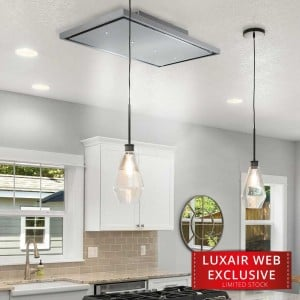 Nuvola Stratos - 90cm Recirculating Ceiling Hood - Stainless Steel