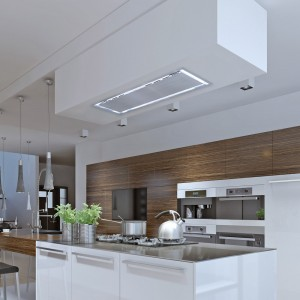 Soffitto 90cm x 30cm Ceiling Hood - Stainless Steel
