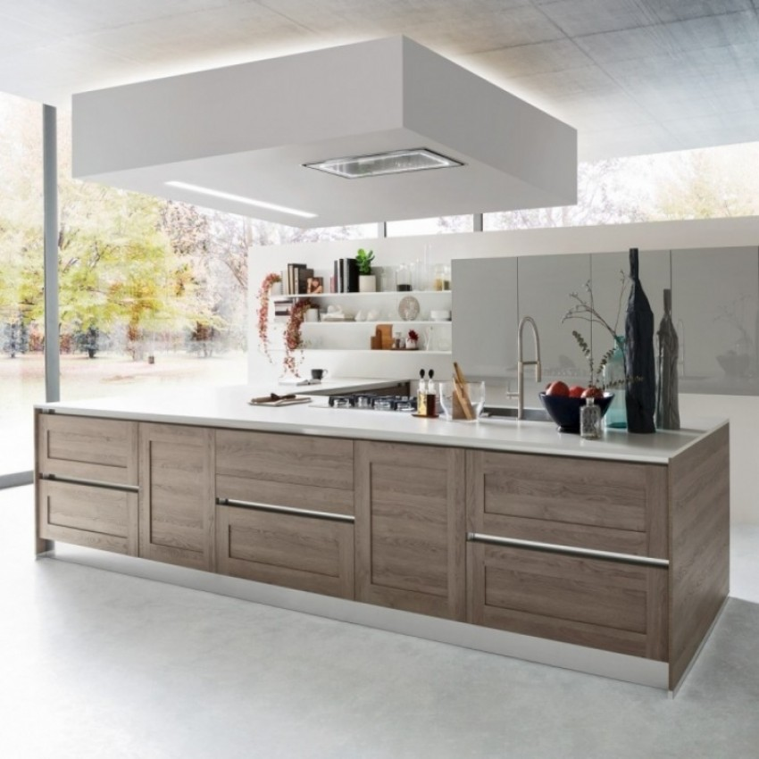 90cm Powerful Silent Ceiling Cooker Hood With Adjustable Surround Lighting Made In All Stainless Steel