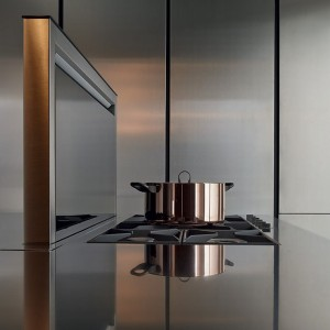 90cm Downdraft Hidden Extractor - Black Glass