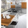 150cm island kitchen extractor stainless steel