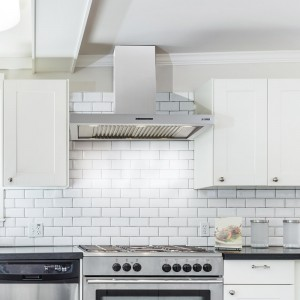 100cm wall mounted cooker hood stainless steel