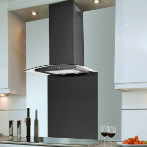 60cm Curved Artis Cooker Hood Black