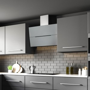 Ascenti - 90cm Angled Cooker Hood in Stainless Steel