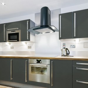 90cm Curved Glass Cooker Hood - Anthracite Grey