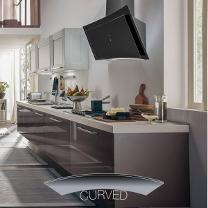 90cm Curva - Black Glass