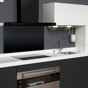 90cm Linea Slimline in Black