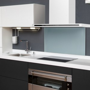 White Linea Wall Cooker Hood