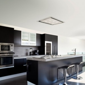 Ceiling Cooker Hood With Slimline Motor 90cm x 50cm Stainless Steel