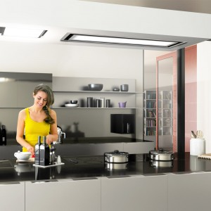The vey best in ceiling cooker hoods Tolvi 120cm with LED lighting panel