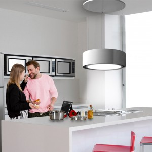 Tolvi 90cm Pendant with Riser Mechanism - Stainless Steel