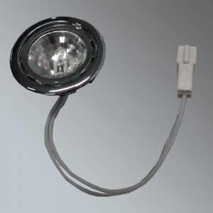 Halogen Light Fitting Polished Steel