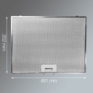 Metal Grease Filter 202mm x 491mm