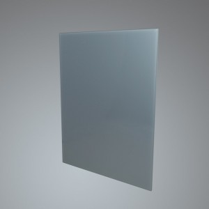 60cm Straight Silver Glass Splashback