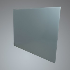 90cm Straight Silver Glass Splashback
