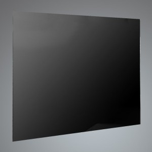 90cm Straight Black Glass Splashback