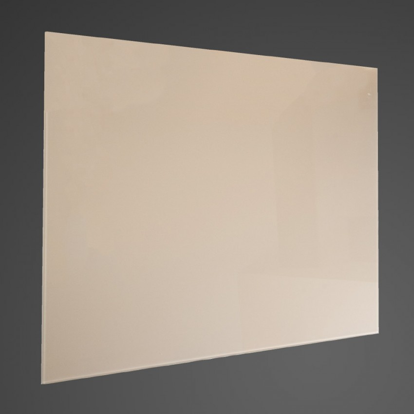 90cm Straight Cream Glass Splashback