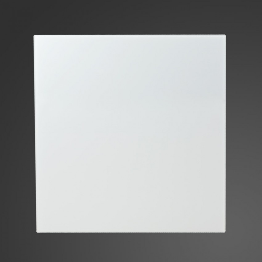 60cm Straight White Glass Splashback