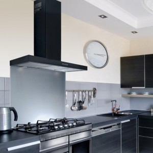 100cm Flat Black Chimney Hood