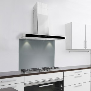 70cm Slim With Glass Front Kitchen Extractor