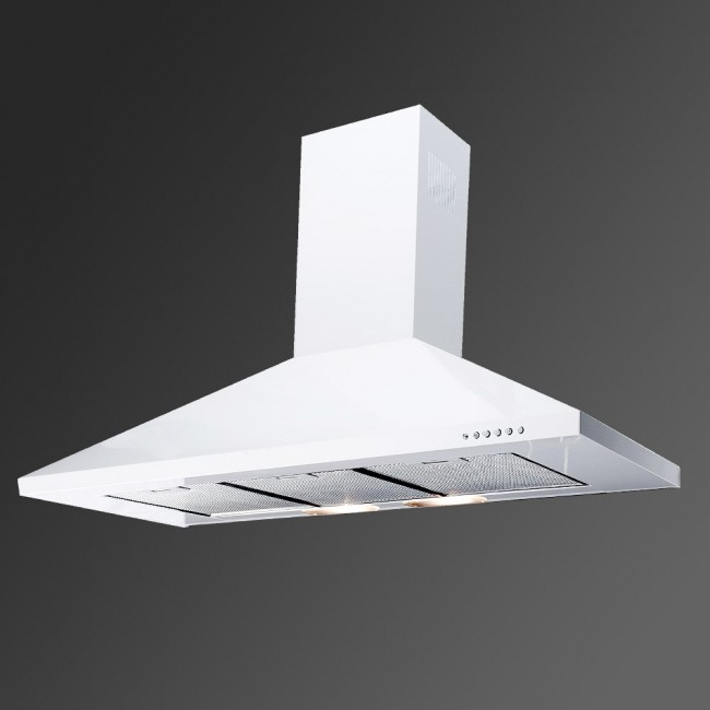 90cm Cooker Hood White Kitchen Extractor Cooker Fan Kitchen Hood Extractor Hood