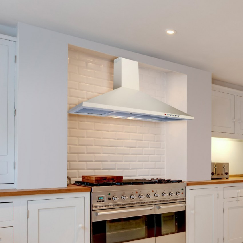 80cm cooker hood in white