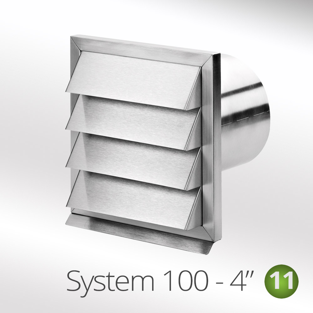 100mm stainless steel wall vent ouside grill for ducting