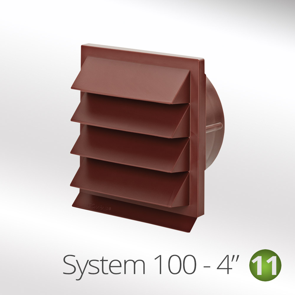 """Air Vent Grille Cover TERRACOTTA 100mm (4"""") Ducting Ventilation Grill Cover"""