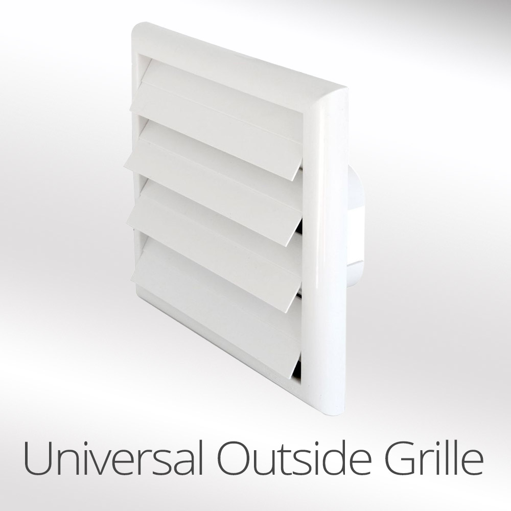 Ducting wall grill vent universal 100mm-125mm-150mm