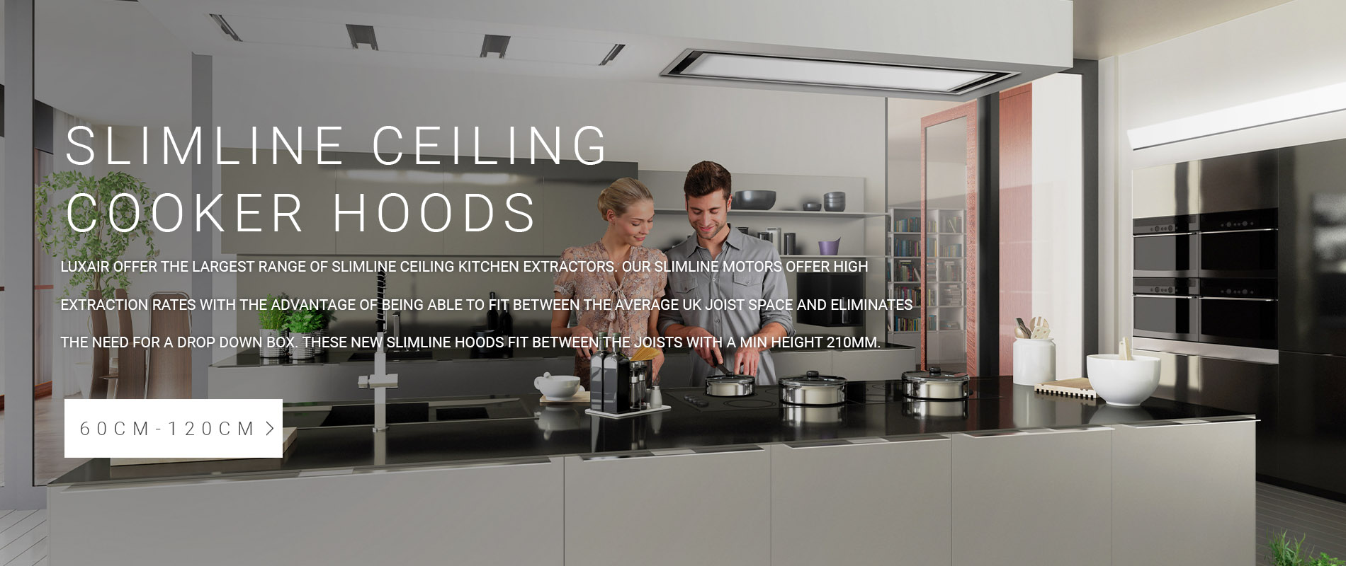 Slimline Ceiling Kitchen Extractors
