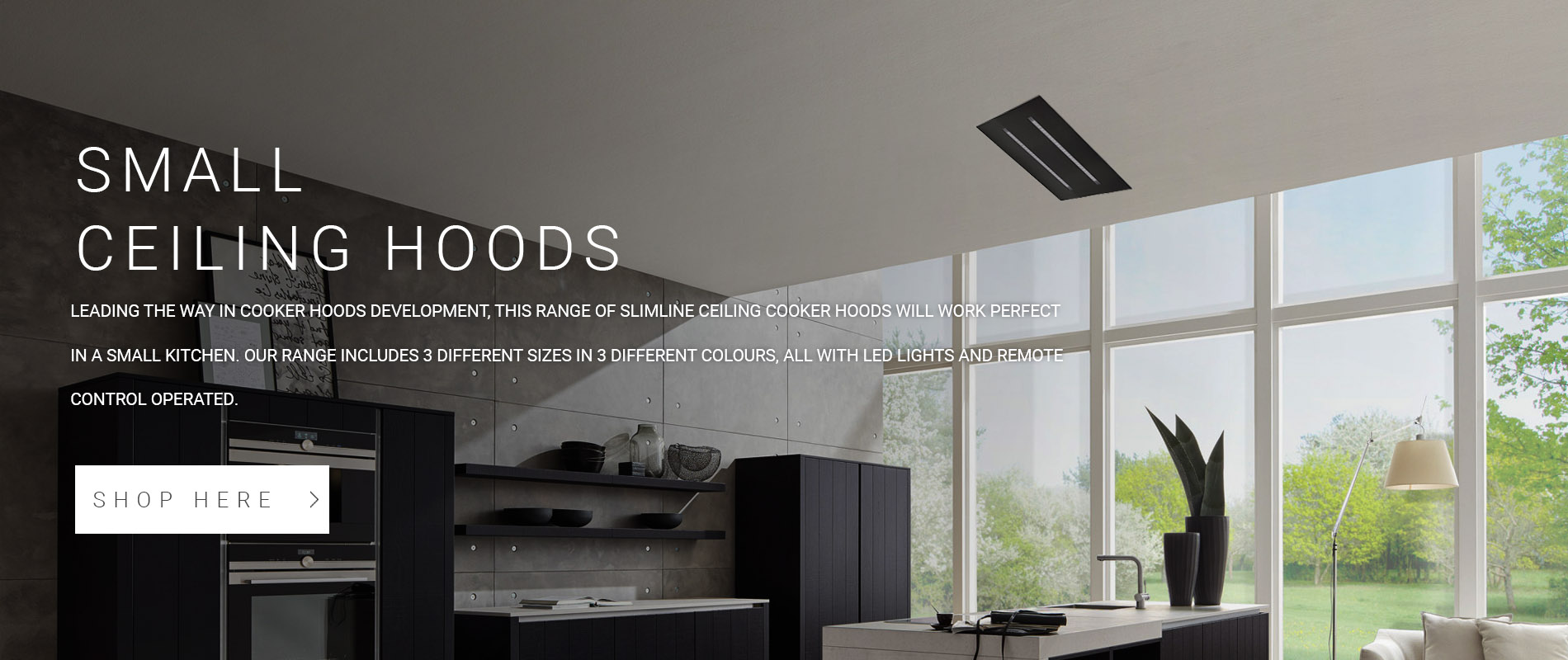 Small Ceiling Cooker Hoods