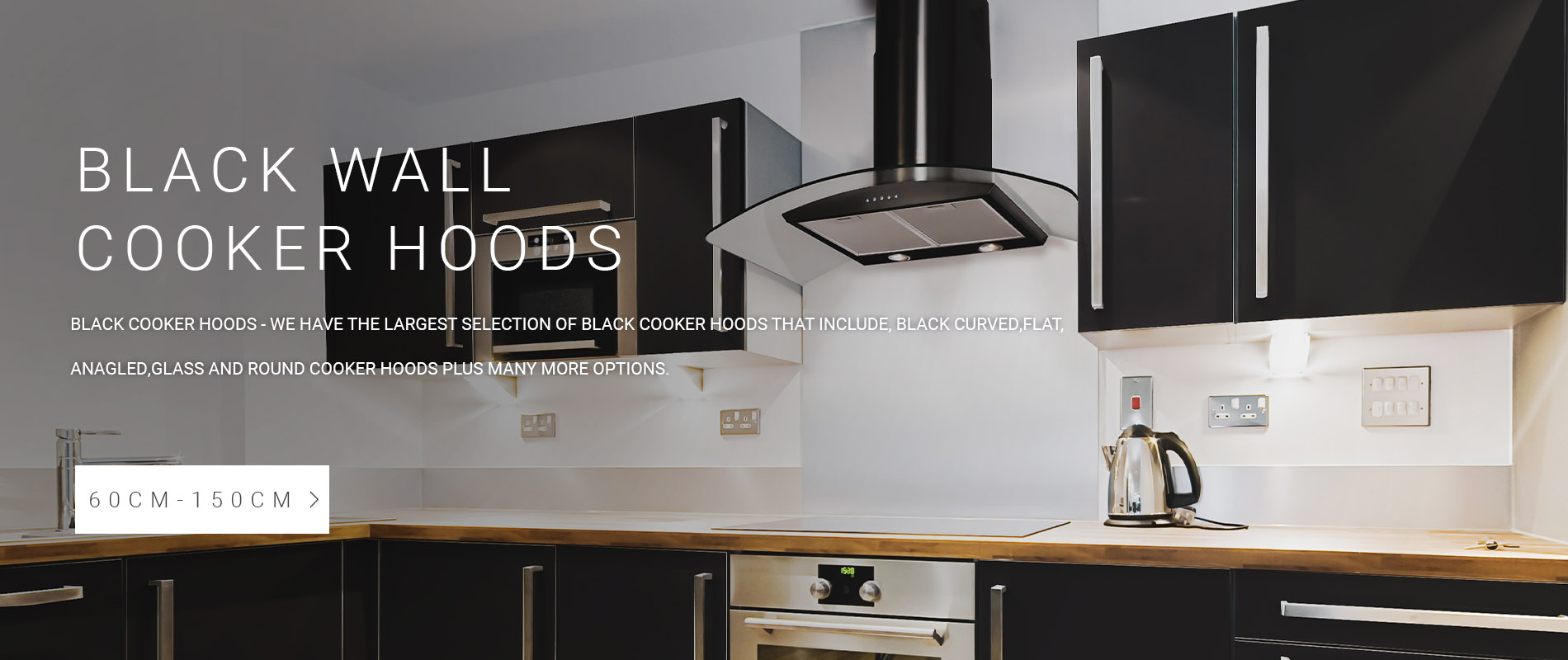 Black Wall Mounted Cooker Hoods