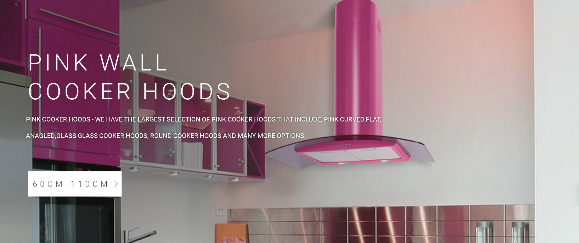 Pink Wall Mounted Cooker Hoods