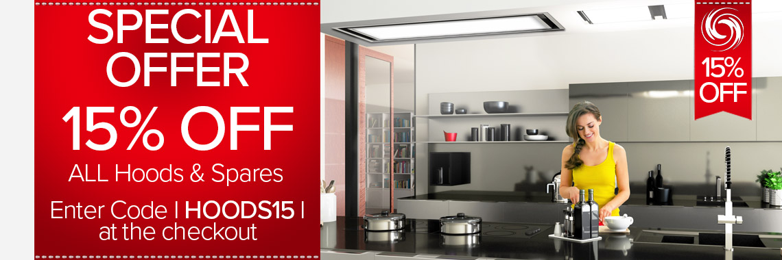 15% Off All Cooker Hoods & Spares
