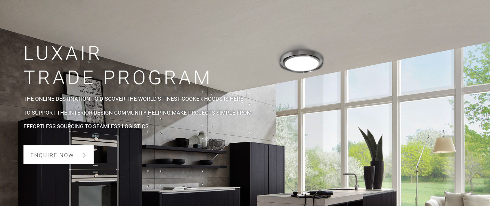 Luxair Cooker Hoods Trade Account
