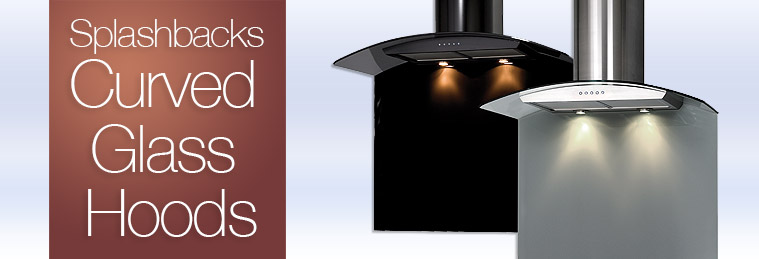 Curved Glass Cooker Hood Splashbacks