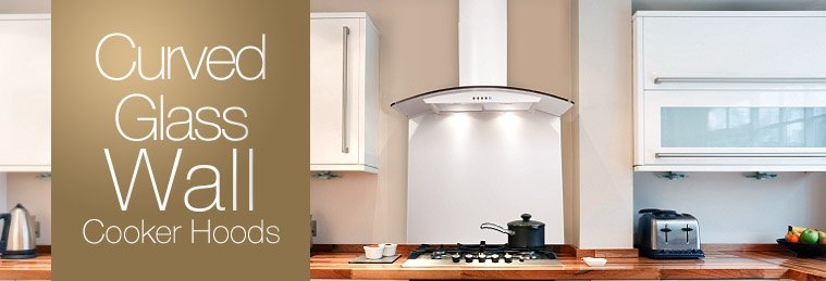 Curved Glass Wall Mounted Cooker Hoods