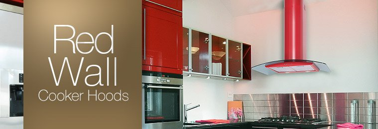 Red Wall Mounted Cooker Hoods
